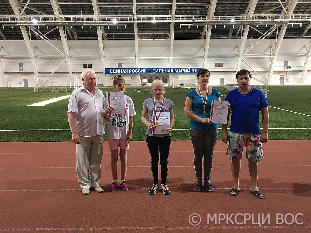 Призеры-женщины Чемпионата-Первенства Республики Марий Эл по легкой атлетике