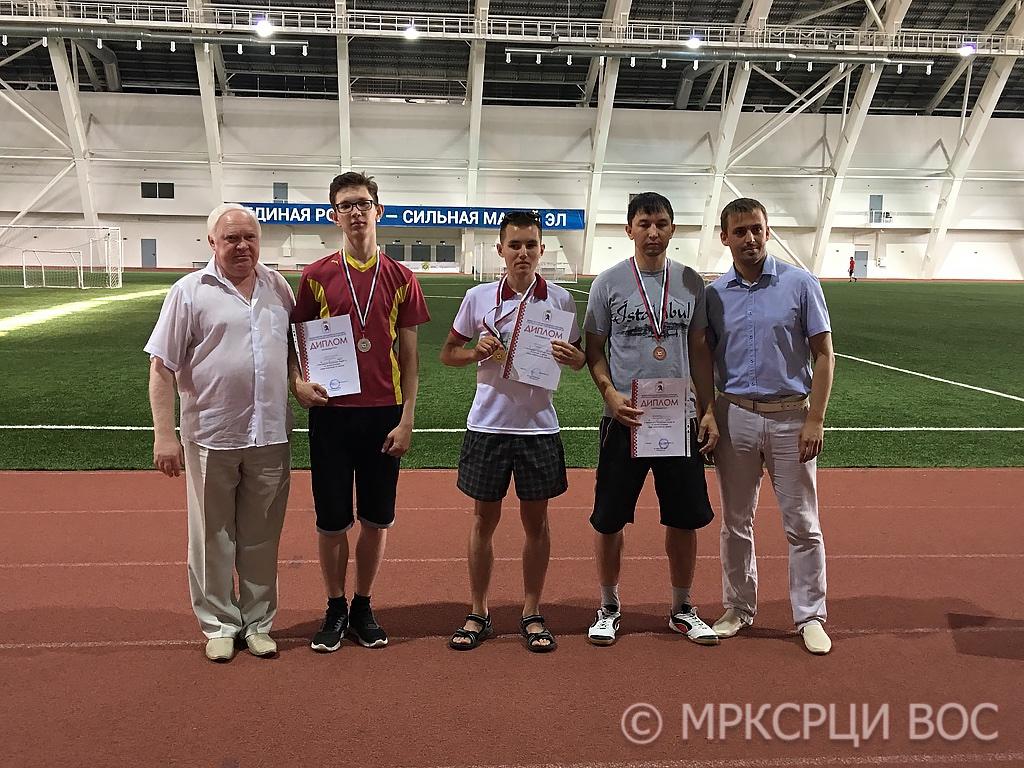 Призеры-мужчины Чемпионата-Первенства Республики Марий Эл по легкой атлетике